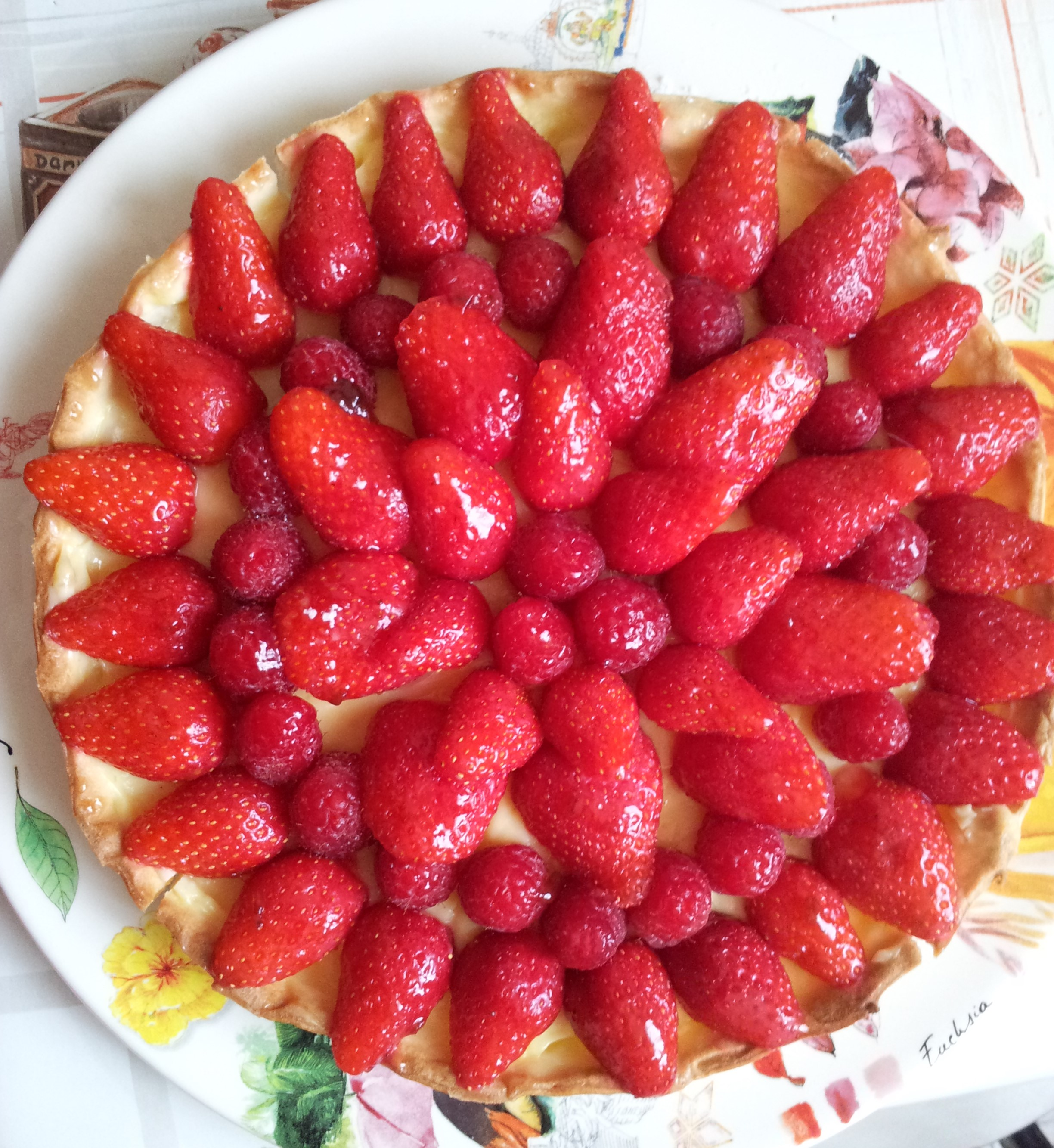 tarte aux fraises framboises cooking chef de kenwood espace recettes. Black Bedroom Furniture Sets. Home Design Ideas