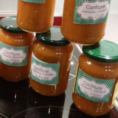 Confiture d'abricots rhubarbe
