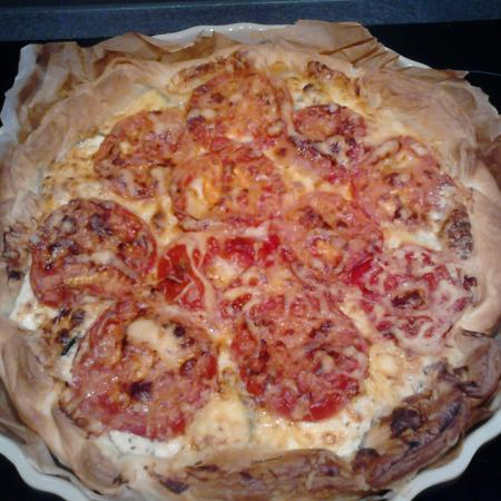 Tarte tomate courgette et tofu soyeux