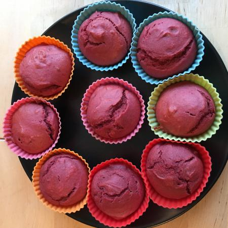 Muffins betterave rouge