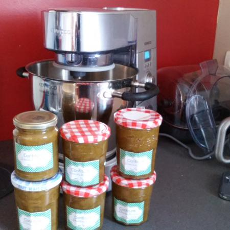 confiture de rhubarbe cooking chef